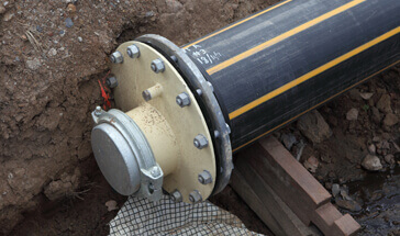 Installation of gas pipe line